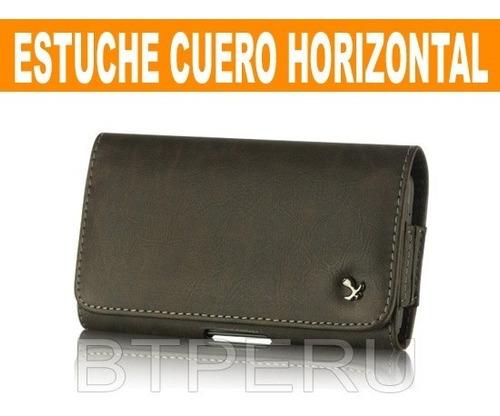 Estuche Cuero Horizontal Xperia Htc Sony Z5 Z Note 4 5 Nokia
