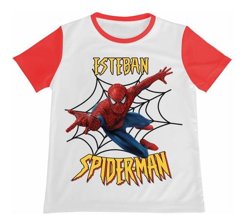 Camiseta Spider Man Spiderman Hombre Araña Personalizada