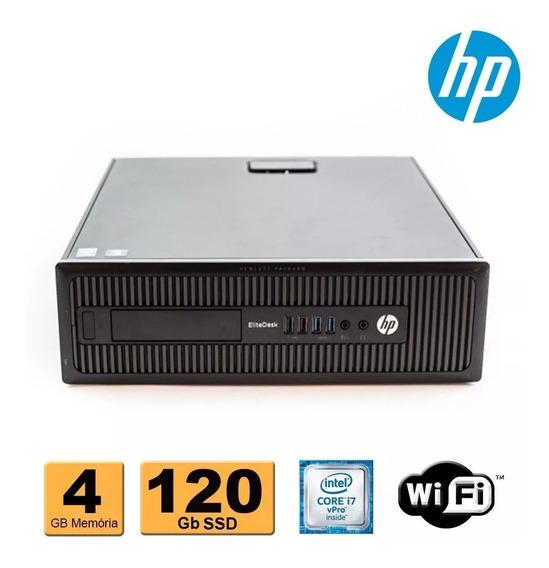 Cpu Hp Elitedesk 800 G1 Sff I7 Vpro 4ª Geração 4gb Ssd 120gb