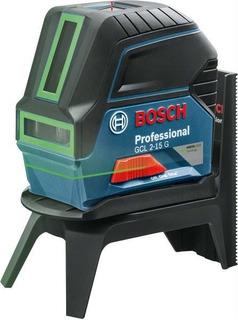Nivel Laser Combinado 2 Lineas Y Plomada Bosch Gcl 2-15 G