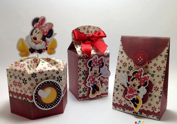 Kit Digital Minnie Vermelha Silhouette 003