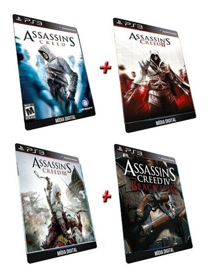 Assassins Creed 1 2 3 4 Ps3 Psn Jogo Digital Collections