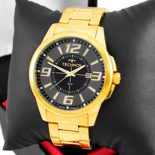 Relógio Technos Masculino Performance Racer Dourado