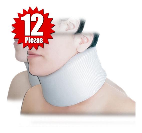 Collarín Cervical Adulto Alto Blanco (12 Piezas)