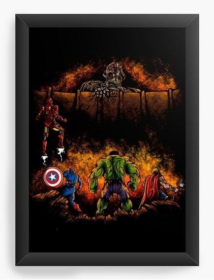 Quadro Decorativo Geekz Os Vingadores
