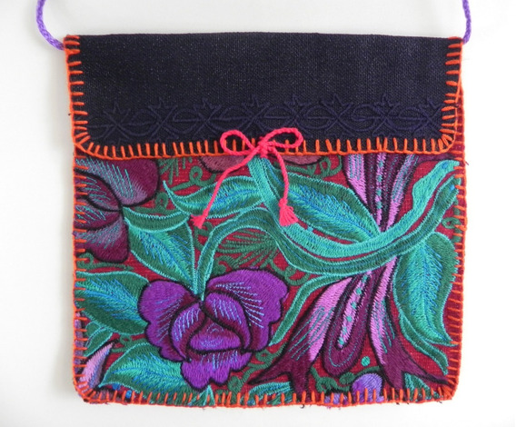 Bolsa En Bordado De Flores Artesanal Chiapaneco, Artes #9