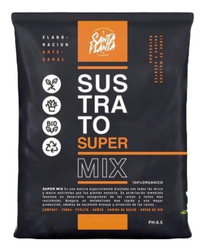 Sustrato Santa Planta Super Mix 25dm3