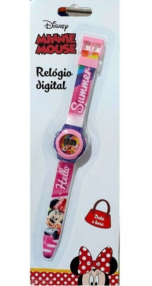 Relógio Digital Infantil Minnie Mouse- Dtc 4656
