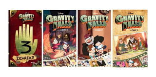 Pack Gravity Falls Comic 1 2 3 + Diario 3 Español / Diverti