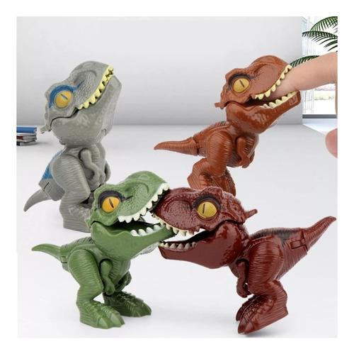 Imagen 1 de 8 de Súper Pack 4 Huevos De Juguete Con Dinosaurios Mordelones