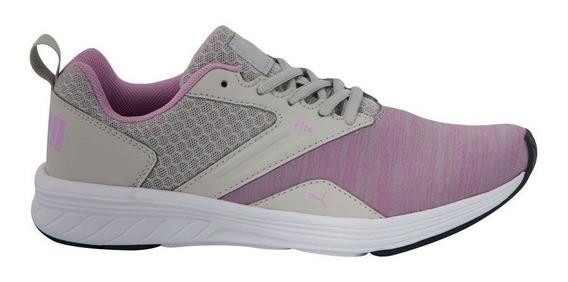 Tenis Puma Nrgy Comet Junior - Cinza/rosa