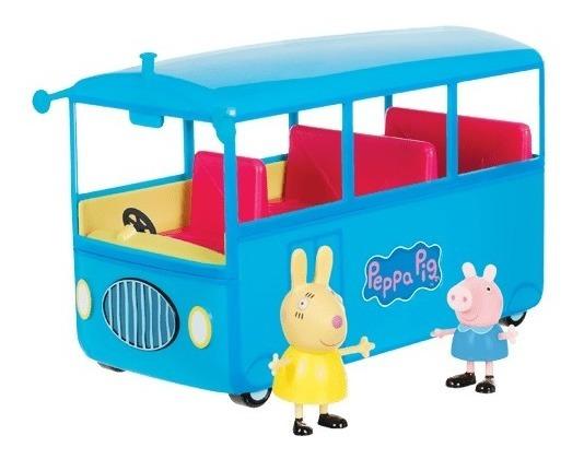 Peppa Ônibus Escolar Azul Dtc