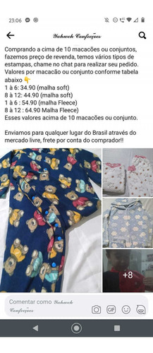 Confecção De Macacões Pijama E Conjunto (calça E Casaco)