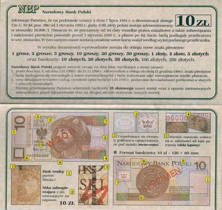 Poland Polônia Folder - Currency Literature * C O L *