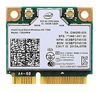 Tarjeta Wifi Mini Pci-e Intel 7260 867mbps 802.11ac Bt4.0