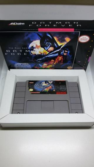 Batman Forever Original Super Nintendo Caixa Reimpressa