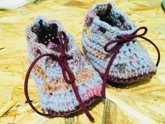 Vintage Booties Deluxe - Patucos Para Bebé Tejido Crochet