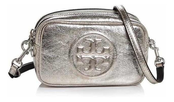 Bolsa Tory Burch100% Óriginal Perry Croosbody Plata