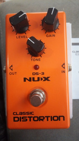 Pedal Classic Distortion Nux True Bypass