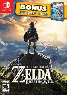 Zelda Breath Of The Wild + Bonus Guide Nintendo Switch!!!