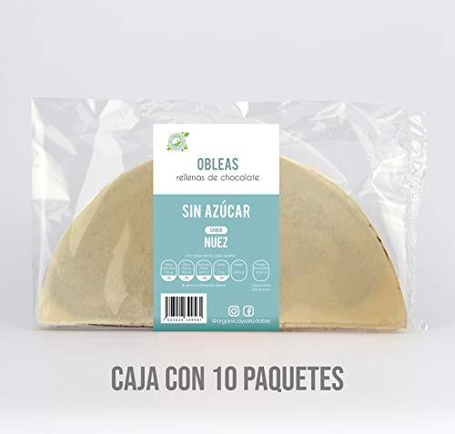 Organica Y Saludable Obleas Amaranto Sin Azúcar, Sabor Nuez
