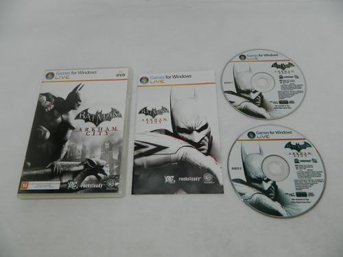 Batman Arkham City - Original Pc - Mídia Física Completa