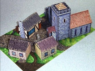 Aldea Medieval (modelo Para Armar En Papel)