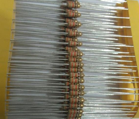 100pçs Resistor Cr25 330r 5% 1/4w