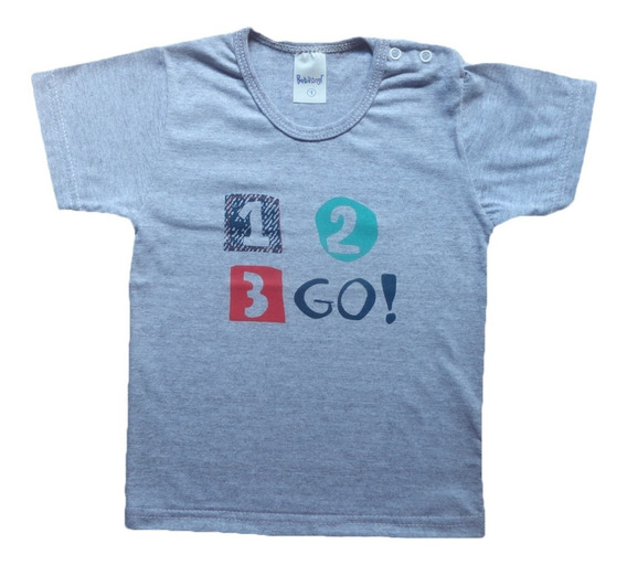Kit Com 3 Camiseta Menino Manga Curta 100% Algodão