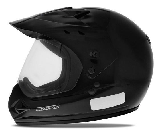 Capacete Moto Motocross Fechado Com Viseira Ebf Motard Solid