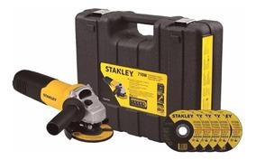Pulidora Angular 4-1/2 Pg. 710w + Estuche + 5 Discos Stanley