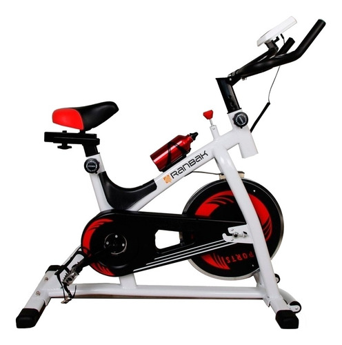 Imagen 1 de 4 de Bicicleta fija Ranbak RAN 101N para spinning blanca, negra y roja
