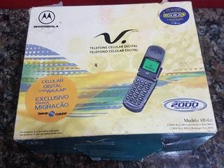 Motorola V8160 Com Carregador Caixa E Manual Da Epoca Leia..