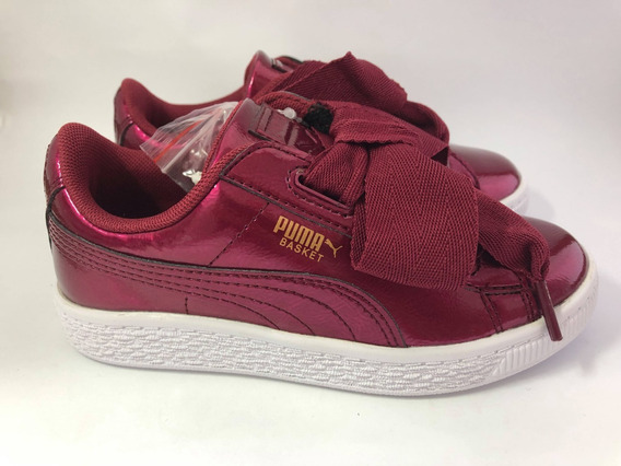 Tenis Puma Basket Heart Glam Ps Infantil Original
