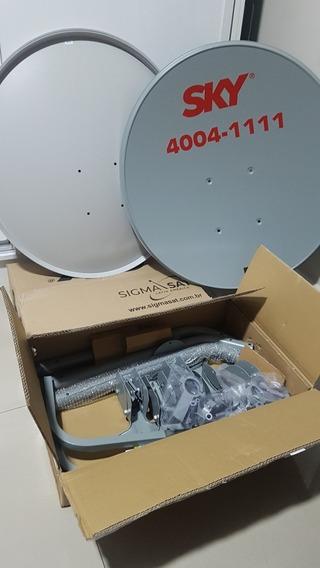 Antenas Ku 60cm + Lnb Duplo Universal Só 69,99