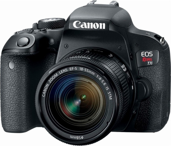Camara Canon Rebel T7i 24 Mp Lcd Abatible Kit 18-55 Reflex