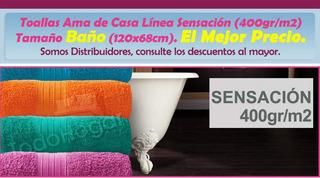 Toalla Ama De Casa Sensación (400gr/m2) Baño El Mejor Precio