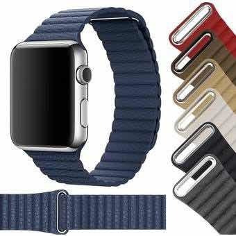 Extensible Strap Piel Magnetica Para Iwatch 38/40/42/44mm