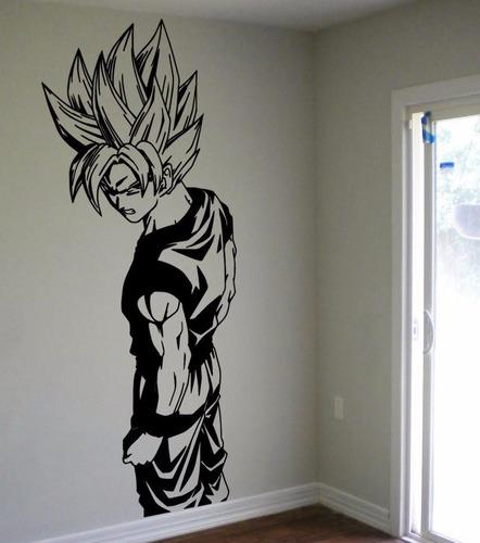 Vinilos Infantil Goku Decorativo Pared 75cm X 30cm