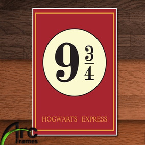 Pôster Cartaz A4 Harry Potter Plataforma 9 3/4