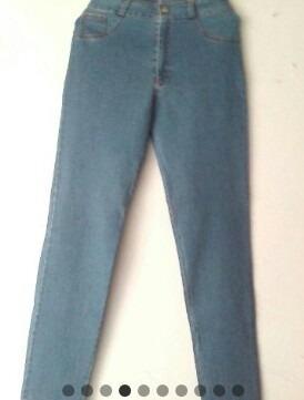 Pantalon Jeans, Colombiano, Corte Alto, Talla 11/12, 13/14