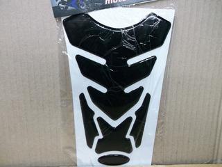 Protector De Tanque Negro Liso Universal En Motos Comics