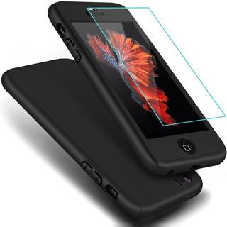 Elegante Funda 360° iPhone 6 7 Plus 8 X + Cristal Templado