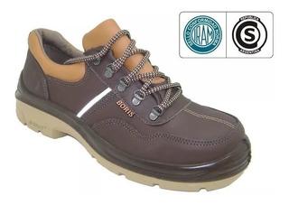 Zapato De Seguridad Boris 3014 Dielectrico Puntera De Acero