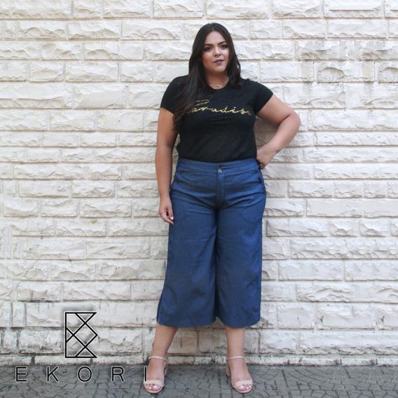 Calça Jeans Pantacourt Plus Size (e62)