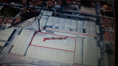 Galpão | Depósito 5.000m² Comercial Para Locação, Álvaro Weyne, Fortaleza. - Ga0062