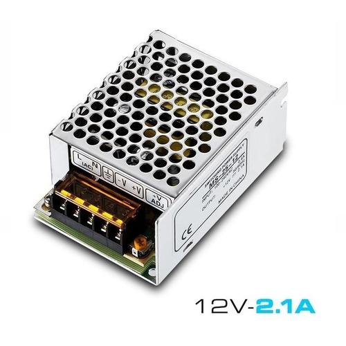 Imagen 1 de 10 de Fuente 12v 2a Metalica Regulada Switching Tira Led Cctv