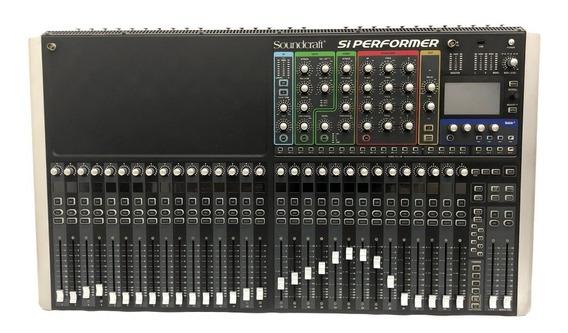 Mesa De Som Soundcraft Si Performer 3 32 Canais Usada + Bag