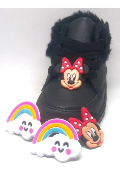 Botinha Minnie Mouse E Chuva De Amor Troca Carinha 18 Ao 25