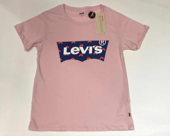Remera Levis De Dama Color Rosa , Nueva Colección